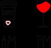 Кофе и бокал с вином