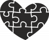 Heart and puzzle