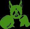 Собака в боксерских перчатках