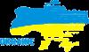 Карта України з написом Ukraine