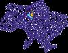 Карта України з серцем