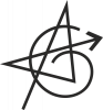 Avengers logo drawn by the line