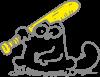 Кот Саймона с битой