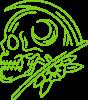 Skull with scythe