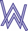 Alan Walker neon logo