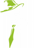 Skull in a hat with a tie