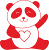 Panda and heart
