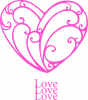 Heart and monograms