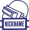 Logo and helmet