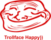 Trollface happy