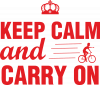 Keep calm and carry on text