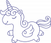Little unicorn with wings
