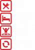 Eat, sleep, rave, repeat ans icons