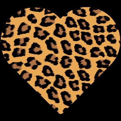 Принт Женская футболка Heart with leopard hair, Фото № 1 - FatLine