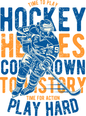 Принт Жіноча футболка Time To Play Hockey, Фото № 1 - FatLine
