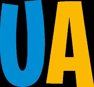 Принт Женская футболка UA Blue and yellow, Фото № 1 - FatLine