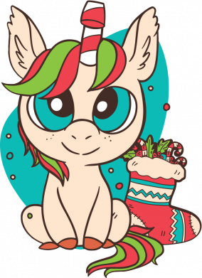 Принт Женская футболка Unicorn Christmas, Фото № 1 - FatLine