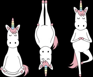 Принт Жіноча футболка Unicorn in yoga, Фото № 1 - FatLine