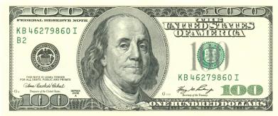 Принт Майка-тельняшка Американский Доллар - FatLine