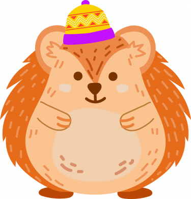 Принт Кружка 320ml Little hedgehog in a hat, Фото № 1 - FatLine
