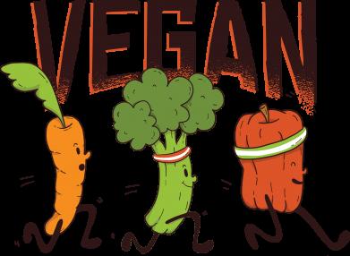 Принт Жіноча футболка Веган овочі, Фото № 1 - FatLine