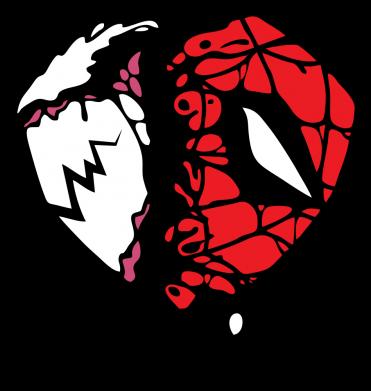 Принт Жіноча футболка Venom and spiderman, Фото № 1 - FatLine