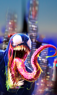 Принт Чехол для Samsung A6s Venom slime, Фото № 1 - FatLine