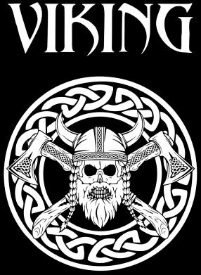Принт Женская футболка Vikings and axes, Фото № 1 - FatLine