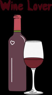 Принт Жіноча футболка Wine lover, Фото № 1 - FatLine
