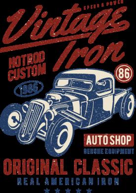 Принт Жіноча футболка Vintage iron 1986, Фото № 1 - FatLine