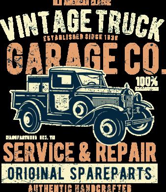 Принт Жіноча футболка Vintage Truck, Фото № 1 - FatLine