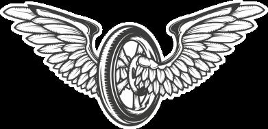 Принт Кружка 320ml Колесо та крила, Фото № 1 - FatLine