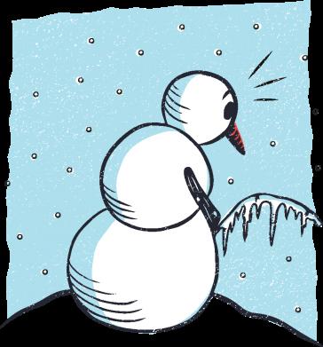 Принт Кружка 320ml Snowman. It's Cold!, Фото № 1 - FatLine