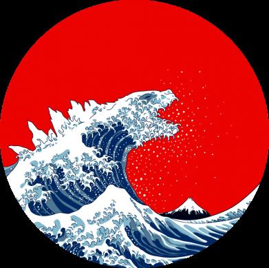 Принт Кружка 320ml Godzilla Wave, Фото № 1 - FatLine