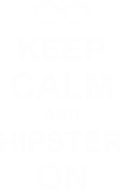 Принт Футболка Keep calm an on hipster - FatLine