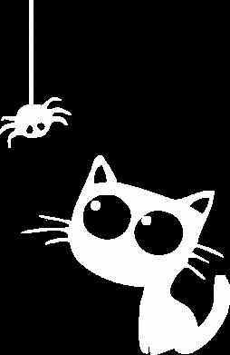 Принт Дитяча футболка Котик і павук - FatLine