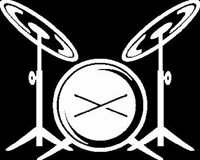 Принт Футболка с длинным рукавом Барабанная установка - FatLine