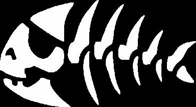 Принт Жіноча футболка з V-подібним вирізом скелет рибки - FatLine