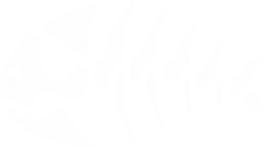 Принт Футболка Поло скелет рибки - FatLine