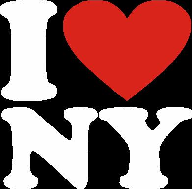Принт Мужская футболка  с V-образным вырезом Люблю Нью Йорк - FatLine