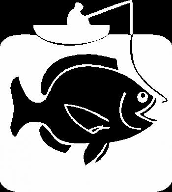 Принт Мужская майка Рыба на крючке - FatLine