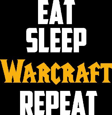 Принт Женская футболка Eat sleep Warcraft repeat, Фото № 1 - FatLine