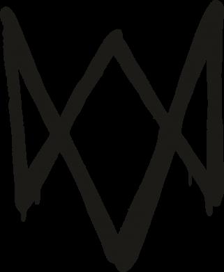 Принт Чехол для Samsung A6s Graffiti Watch Dogs logo, Фото № 1 - FatLine
