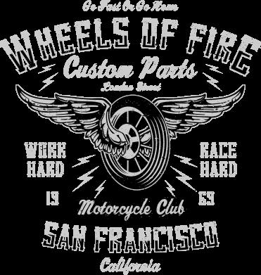 Принт Жіноча футболка Wheels Of Fire, Фото № 1 - FatLine
