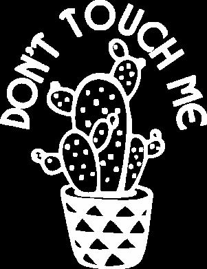 Принт Мужская толстовка Don't touch me cactus, Фото № 1 - FatLine