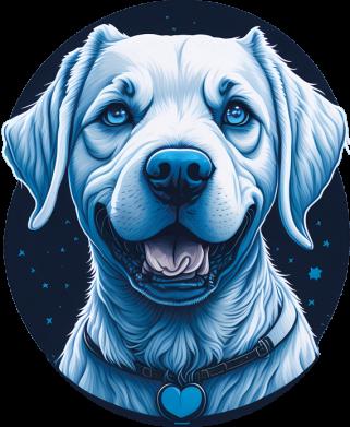 Принт Женская футболка Dog contour minimalism, Фото № 1 - FatLine