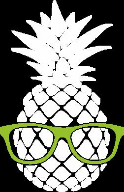 Принт Мужская толстовка Pineapple with glasses, Фото № 1 - FatLine