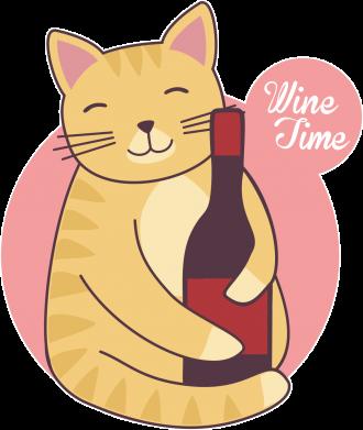 Принт Женская футболка Wine time, Фото № 1 - FatLine