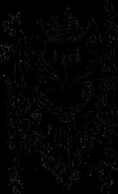 Принт Женская футболка Black wolf with patterns, Фото № 1 - FatLine