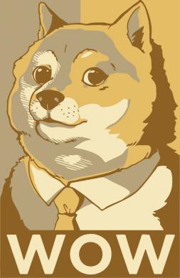 Принт Жіноча футболка Doge wow meme, Фото № 1 - FatLine